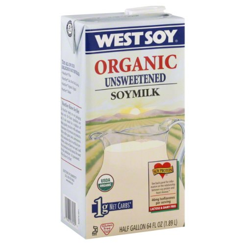 Westsoy Soymilk, Unsweetened, Original, 64-Ounce (Pack of 8)