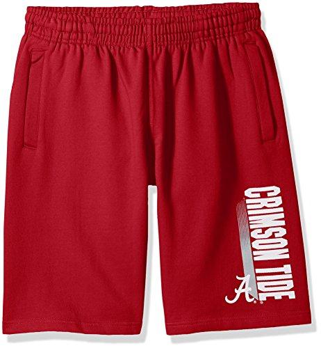 AA Alabama Crimson Tide CVC Fleece Shorts, Crimson, Large ()