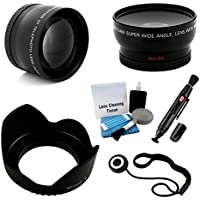 72mm Essential Lens Kit for Select Pentax Cameras. Bundle Includes 2x Telephoto Lens, 0.45x HD Wide Angle Lens w/ Macro, Flower Tulip Lens Hood & UltraPro Accessory Set
