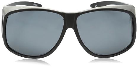 c00e470df0 Amazon.com  Solar Shield Fits Over Sunglasses Classic Aspen Aviator (XL) Blk  Gry  Clothing