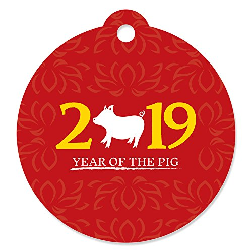 Chinese New Year - 2019 Year of The Pig Party Favor Gift Tags (Set of 20)