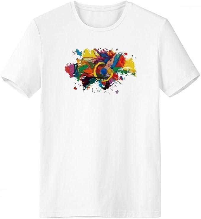 DIYthinker Resumen Los Elementos de Color Pintura al óleo ilustrado Modelo Pincel Escote de la Camiseta Blanca sin Etiquetas Comfort Deportes Camisetas de Regalos - Multi - XXXL: Amazon.es: Deportes y aire