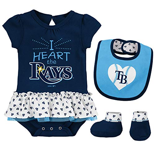 Tampa Bay Rays Cute Navy Blue Short Sleeve Bodysuit Outfit Size 6//9 months