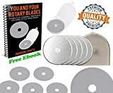 Paragon Crafts Skip-Free Rotary Cutter Blades Cut Sharp. No Ragged Edges Ever. Easy Installation. Scrapbooking / Quilting / Sewing w/ Rotary Cutter. Cuts Multiple Layers. (45mm 10-Pack | No Dull )