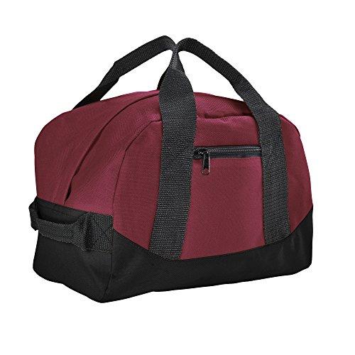 Cheap 12″ Mini Two Tone Duffle Bag (Maroon)