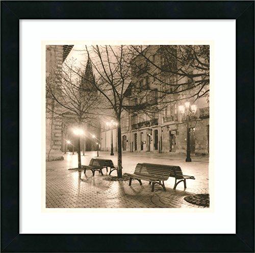 Alan Blaustein Plaza - Framed Art Print 'Plaza de Porlier, Oviedo' by Alan Blaustein