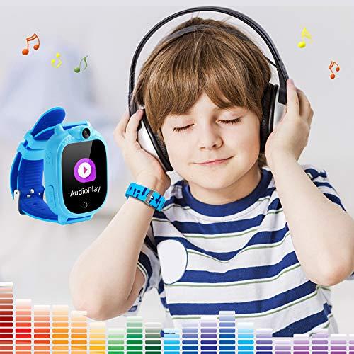 Prograce Kids Smartwatch with 90°Rotatable Camera Touchscreen Kids Watch Music Pedometer Flashlight Games FM Radio Kids Smart Watch Sports Watches Digital Wrist Watch for Boys by Prograce (Image #4)