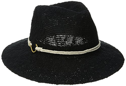 Vince Camuto Women's Rope and Hook Panama Hat, Black, One Size