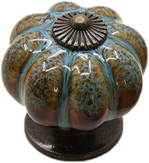 per decorare la casa con viti 15 pomelli vintage per cassetti a forma di zucca
