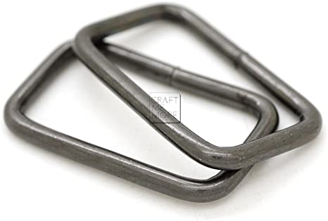 1-1//4 x 20 pcs, Antique Brass CRAFTMEmore Metal Rectangle Buckle Ring Fits 1-1//4 1-1//2 Strap Heavy Duty Rectangular Cord for Bag Belt Loop Purse Making