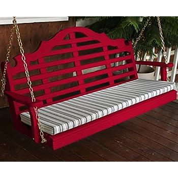 Amazon Com Wood Porch Swing Amish Outdoor Hanging Porch