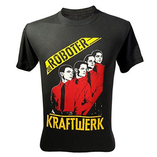 Lectro Men's Kraftwerk Die Roboter T-Shirt V2 Dark Grey Medium