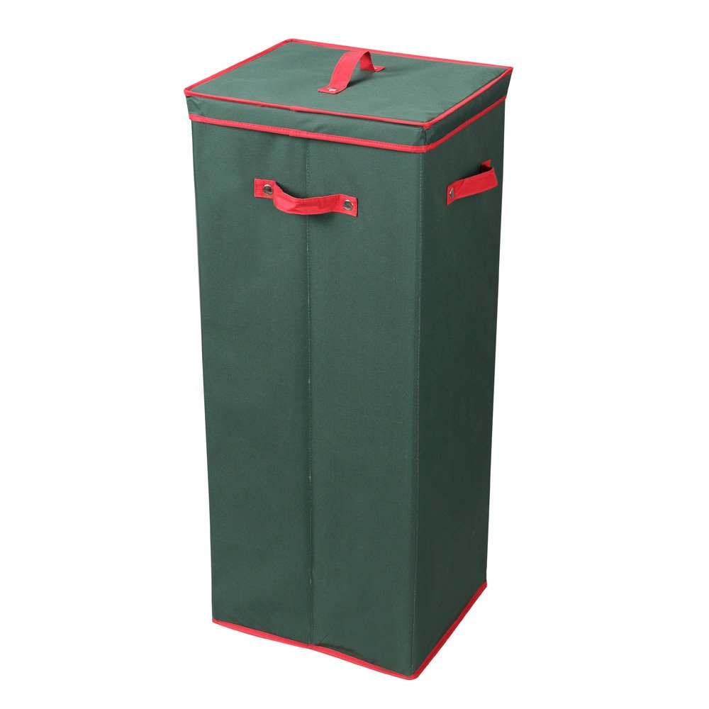 "Primode Wrapping Paper Storage Box with Lid | 32"" Lidded Gift Wrap Storage Box (Green)"