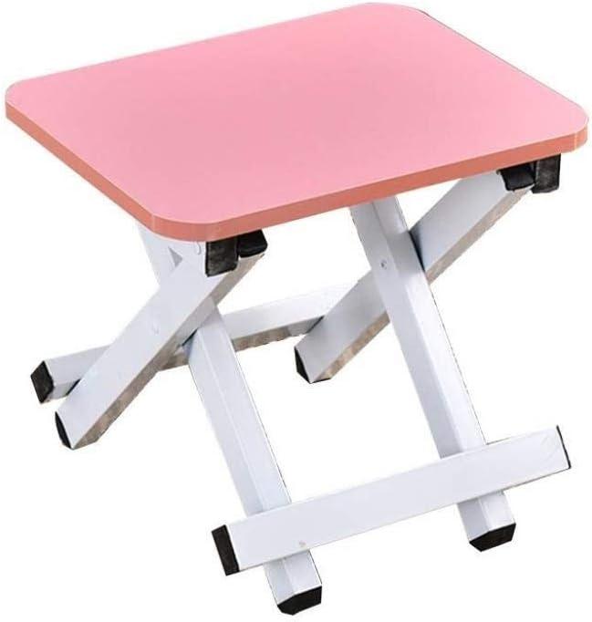 CCJW Taburete Plegable para escalones - Taburete Plegable para niños y Adultos, Taburete Plegable para peldaños del baño del huerto (Color : Pink)