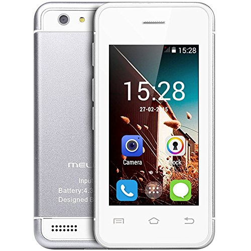 Hipipooo-Melrose S9 Unlocked Mini Cool Smart Phone 2.45 inch Android Phone 4.4.2 Os Dual Core Cell Phone(Silver)