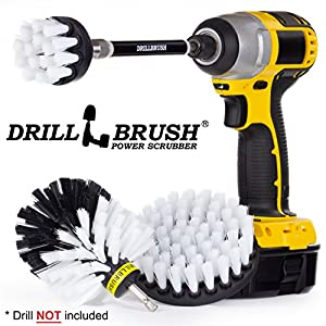 3 Piece Drill Brush Cleaning Tool Attachment Kit for Scrubbing/Cleaning with extension 76