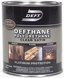 deft defthane interior exterior clear polyurethane satin quart household varnishes