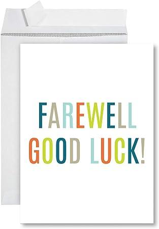 Birds Folding Card for Farewell retirement or XXL A4 Farewell Card Saver Set
