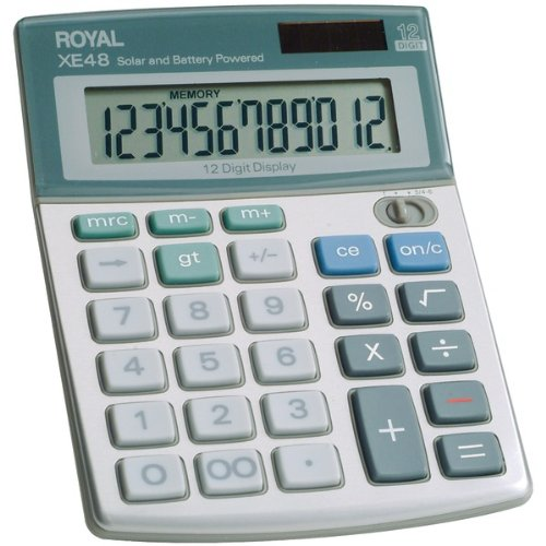 Royal Compact Desktop Solar 12-Digit Calculator Product Type: Ergonomics/Calculators (Royal Desktop Compact)