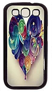 Beautiful Heart- New Design Image Printed On Hard Plastic Back Case Cover For Samsung Galaxy S3 I9300 Black PC Phone Shell Skin for Samsung Galaxy S3 I9300