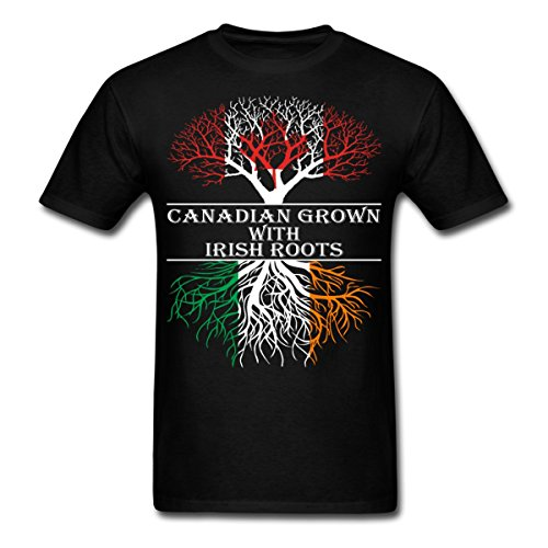 canadian-grown-with-irish-roots-mens-t-shirt-by-spreadshirt-xxl-black