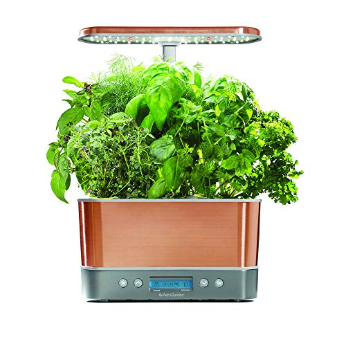 $135.88 Hydroponics Kits AeroGarden Harvest Elite – Copper 2019
