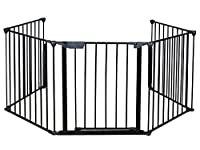 Costzon New Fireplace Fence Baby Safety Fence Hearth Gate BBQ Metal Fire Gate Pet Dog Cat by Costzon