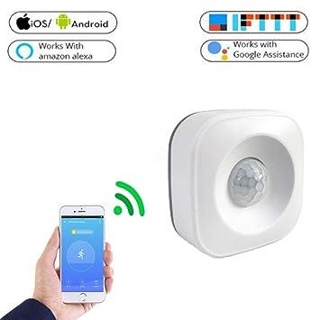 Sensor de Movimiento PIR, Wi-Fi Detector de Alarma de Sensor de Movimiento PIR