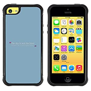 Fuerte Suave TPU GEL Caso Carcasa de Protección Funda para Apple Iphone 5C / Business Style Blue Baby Quote Message Text Minimalist