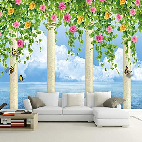 Fiori Wallpaper.Amazon Com Custom 3d Murale Foto Wallpaper Finestra Vista Fiori