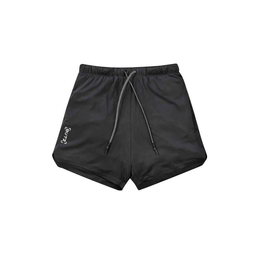 Barthylomo Men's Drawstring Beach Shorts, Lightweight Slim Fit Short Pants Solid Color Sport Trousers Breathable Walk Shorts