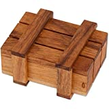 "Bits and Pieces-Wooden Magic Money Holder Gift Box Brainteaser-Brainteaser, Fun Money Puzzle Box - Money Holder Box Measures 1-7/8"" x 2-3/4"" x 3-7/8"""