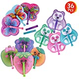 "ArtCreativity 10"" Handheld Folding Fans for Kids (Set of 36) 