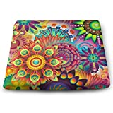 Psychedelic Pattern,Memory Foam Square Chair Pad Cover Fashion Seat Cushion