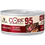Wellness Core 95% Natural Grain Free Wet Canned Cat Food, Beef & Chicken, 5.5-Ounce Can (Pack Of 12) Review