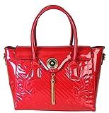 Rimen & Co. Shiny Patent PU Leather Floral Print Tote Womens Purse Handbag LP-2508 LP-2528 LP-2526