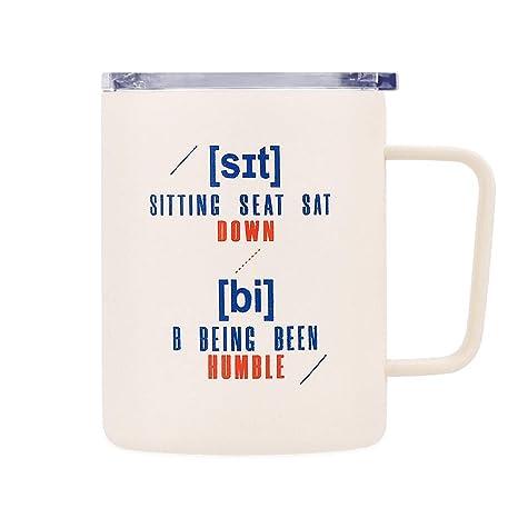 Amazon.com: Simple Drink - Taza de café divertida | Vaso de ...