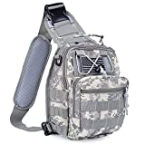 Tactical Backpack - Boxuan Outdoor Tactical Shoulder Backpack(+flag patch), Military & Sport Bag Pack Daypack for Camping, Hiking, Trekking, Rover Sling,chest bag ,Multi-Size Options,Multi-color Options