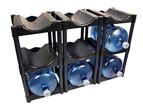 (Bottle Buddy 3 Tier System ,9-Bottle, Black)