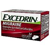 Excedrin Migraine Pain Reliever Caplets 24 ea