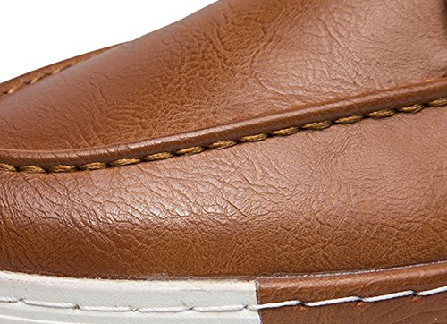Insun Faux Oxford Insun Fashion Mens Leather Mens Faux Tan Sneakers Leather Fashion aHqwxB7I