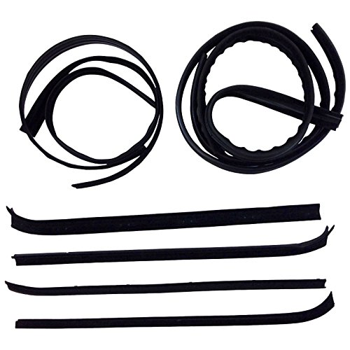 Make Auto Parts Manufacturing - Set of 8 Window Sweep Run Channel Weatherstrip Seal Kit for Ford F-250 Truck