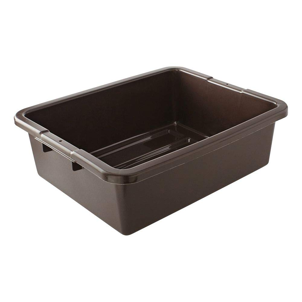 Rubbermaid Commercial Products FG335192BRN Food Service Bus/Utility Tote Box, 7 1/8 gal, Brown