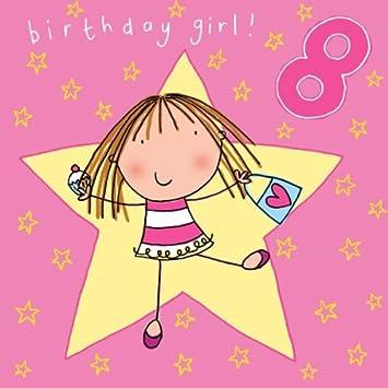 Twizler 8 Geburtstagskarte Fur Madchen Mit Handtasche Cupcake Und