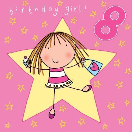 Twizler Age 8 Tarjeta de cumpleaños niña: Amazon.es: Hogar