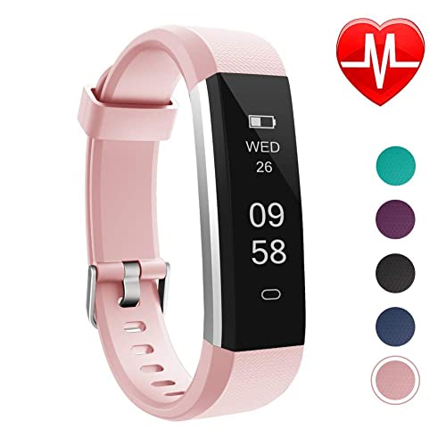 LETSCOM Fitness Tracker, Slim Activity Tracker, Smart Pedometer Watch, Sleep Monitor, Step
