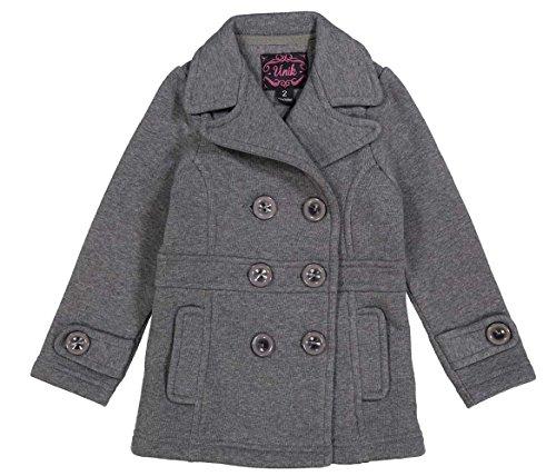 b48ba17dce18 Amazon.com  unik Girl Fleece Coat with Buttons Size 2