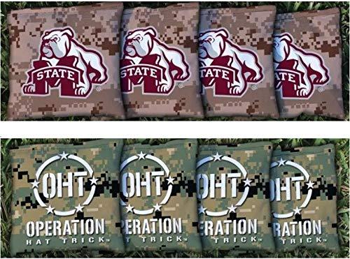 8 Mississippi State MSU Bulldogs Regulation All Weather Cornhole Bags