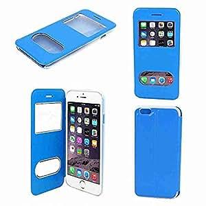 """Movimiento y movimiento (TM)–Funda de piel sintética Protector de pantalla protectora azul para Apple iPhone 66G 4,7"""""""