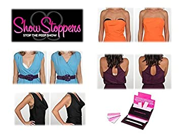 ShowStoppers 2 Pack of 24 Strips Keep Your Fashion Fastened Hems and More Skin Bra Straps Double Sided Tape for Clothing